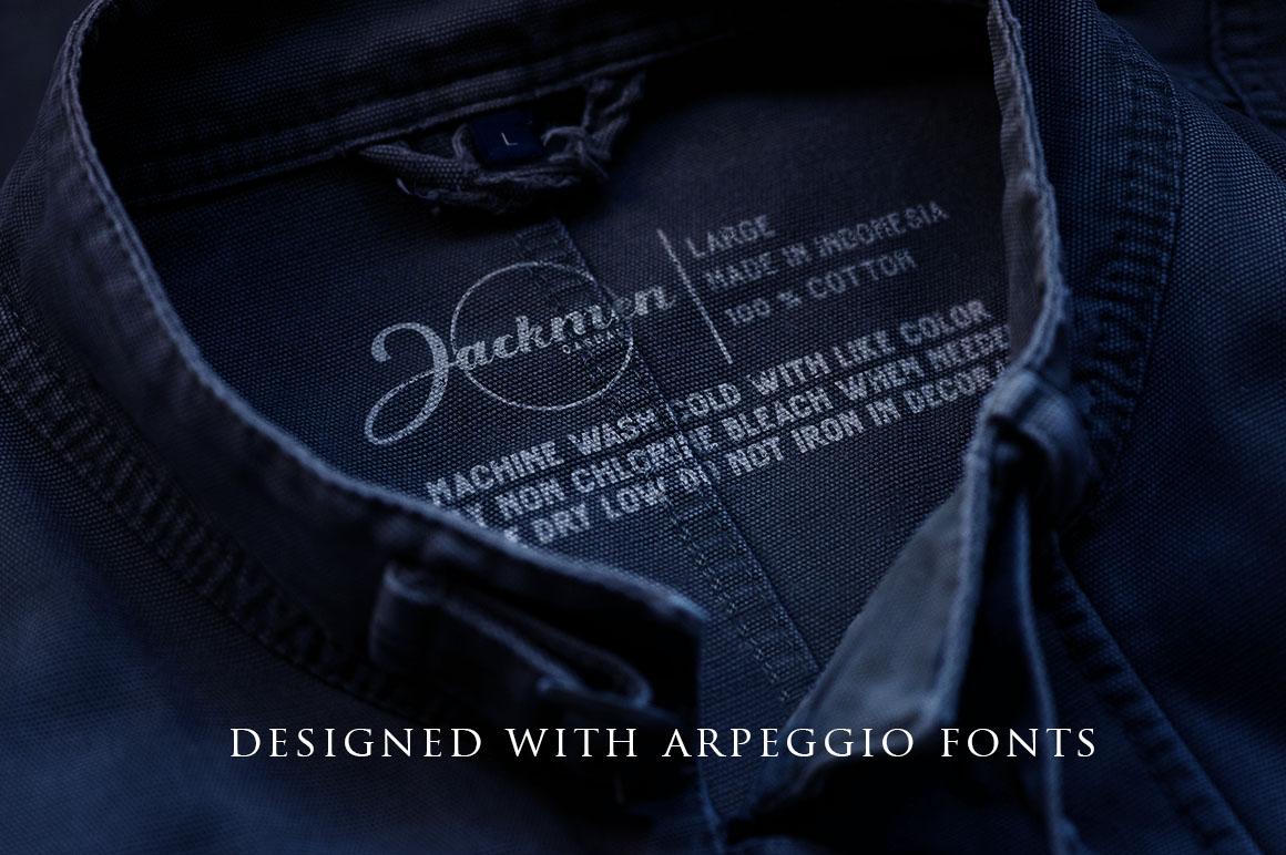 Arpeggio l Font Duo&6 Logo Templates example image 5