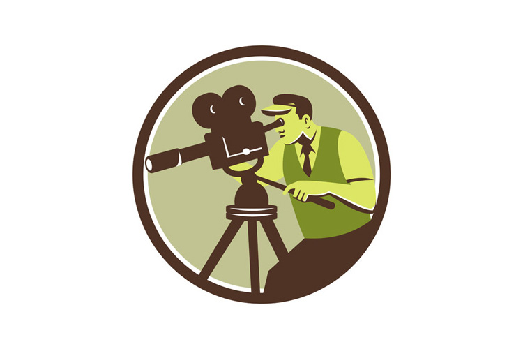Cameraman Director Vintage Camera Retro example image 1