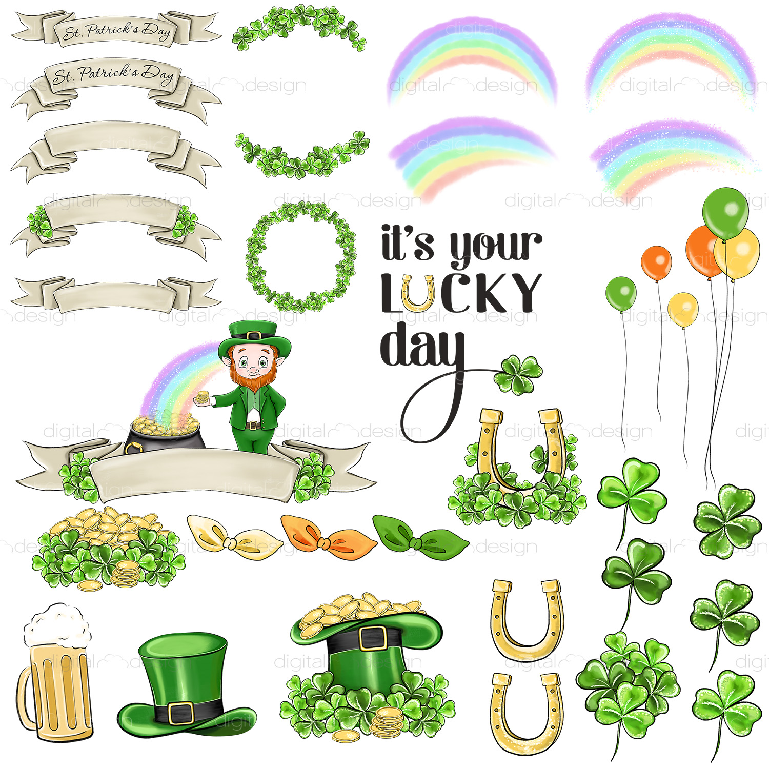 Its Your Lucky Day - Clipart example image 4