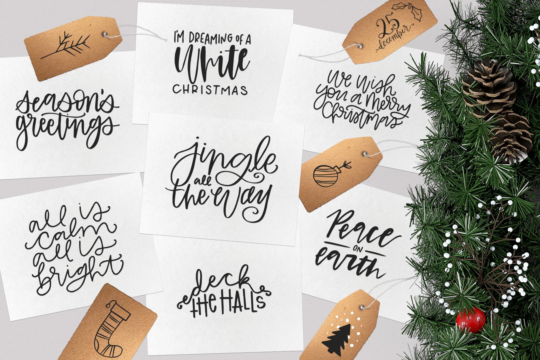 Christmas Symbols Font - Volume 2 example image 4
