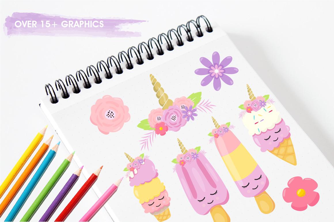 Ice Cream Unicorn graphics and illustrations example image 3