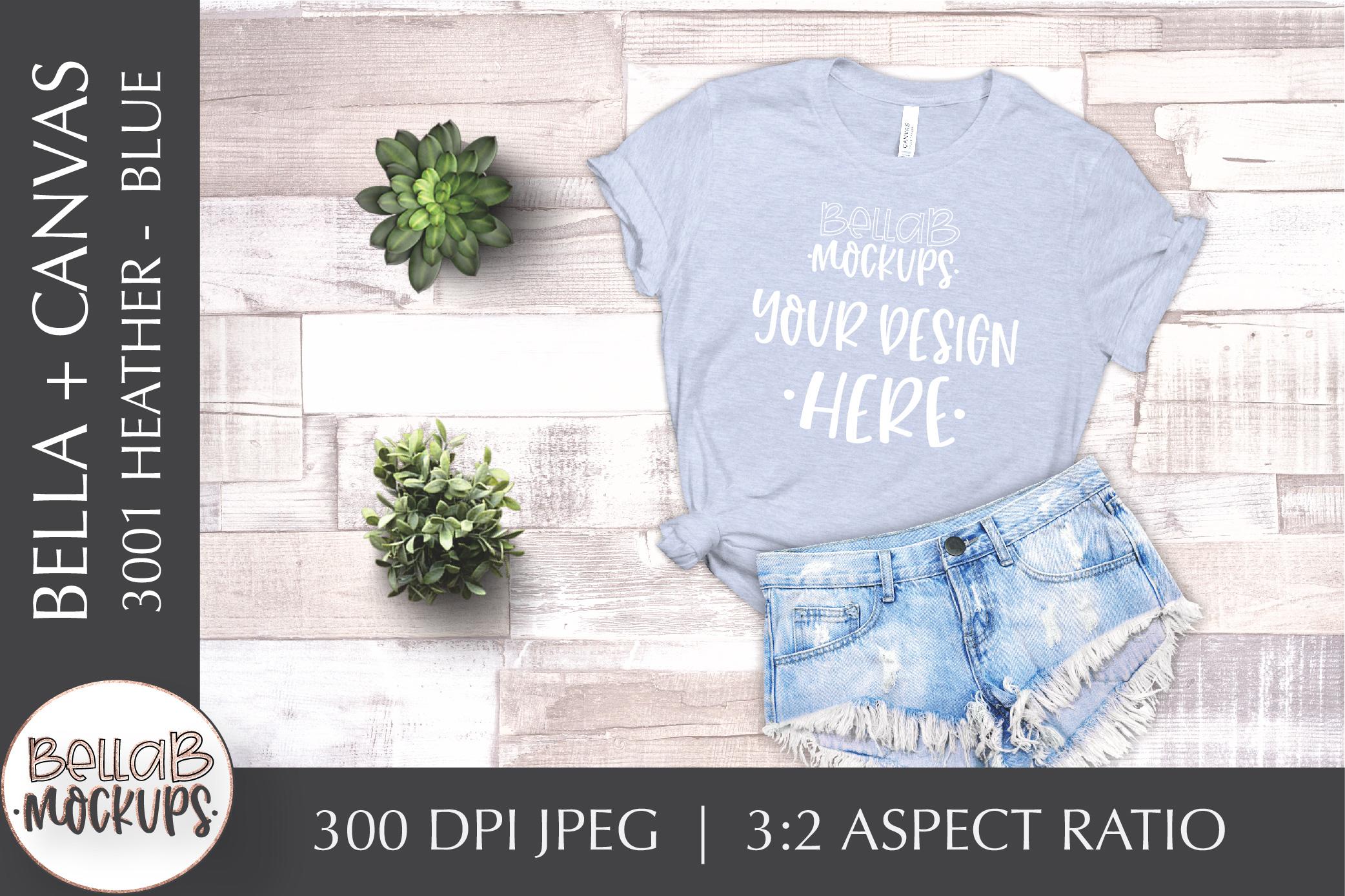 Bella Canvas T Shirt Mockup Bundle, Heather 3001, Summer example image 2