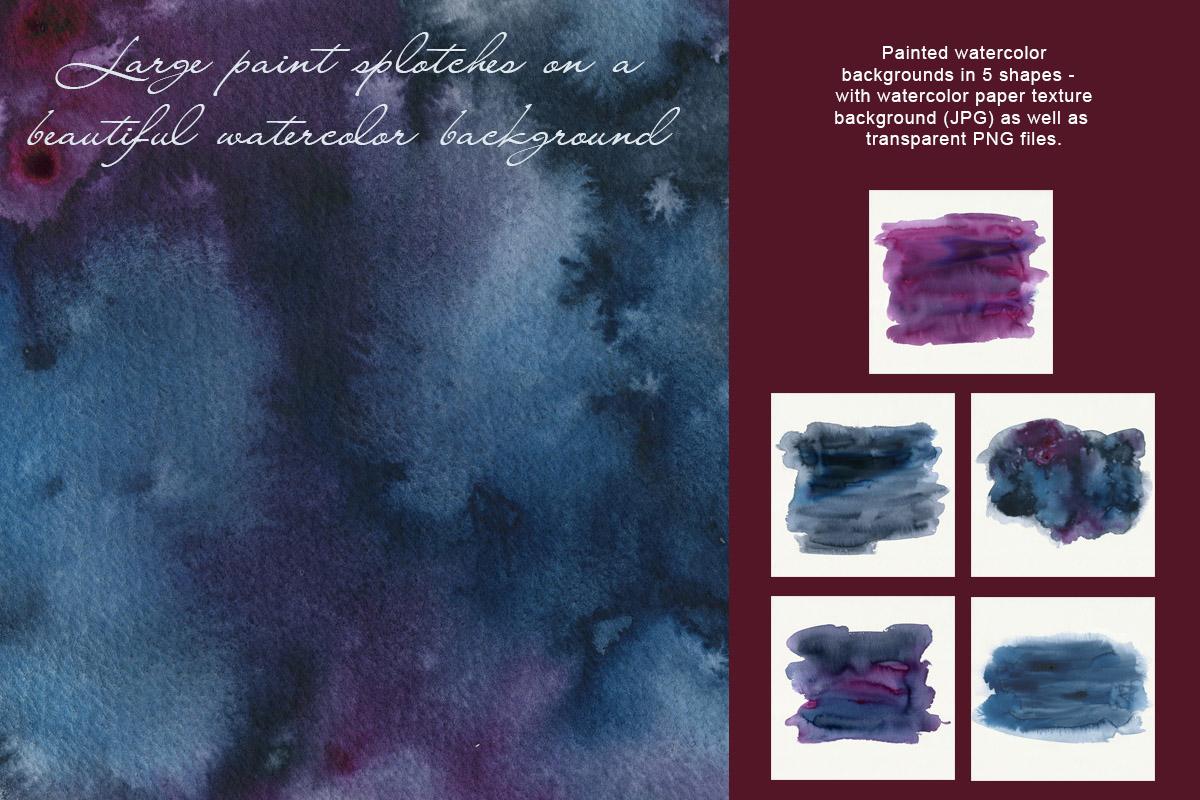 Dark Watercolor Backgrounds & Headers example image 7