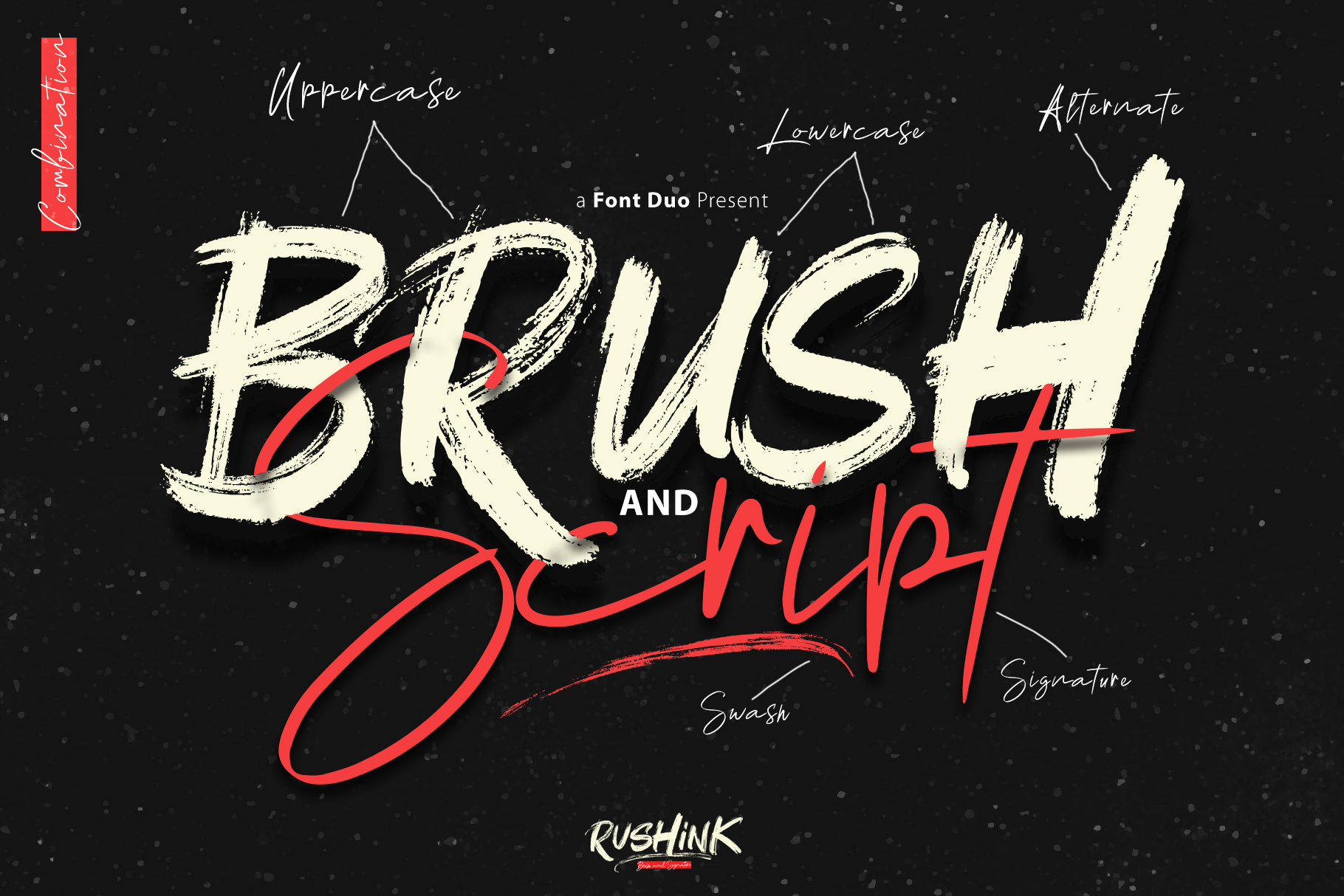 Rushink Font Duo | Brush & Signature example image 4