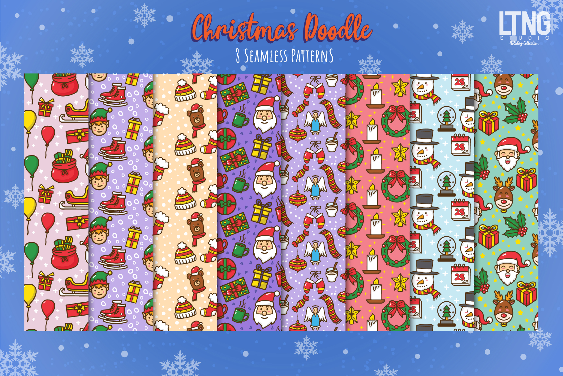 Christmas Doodle Graphic Element 2 example image 3
