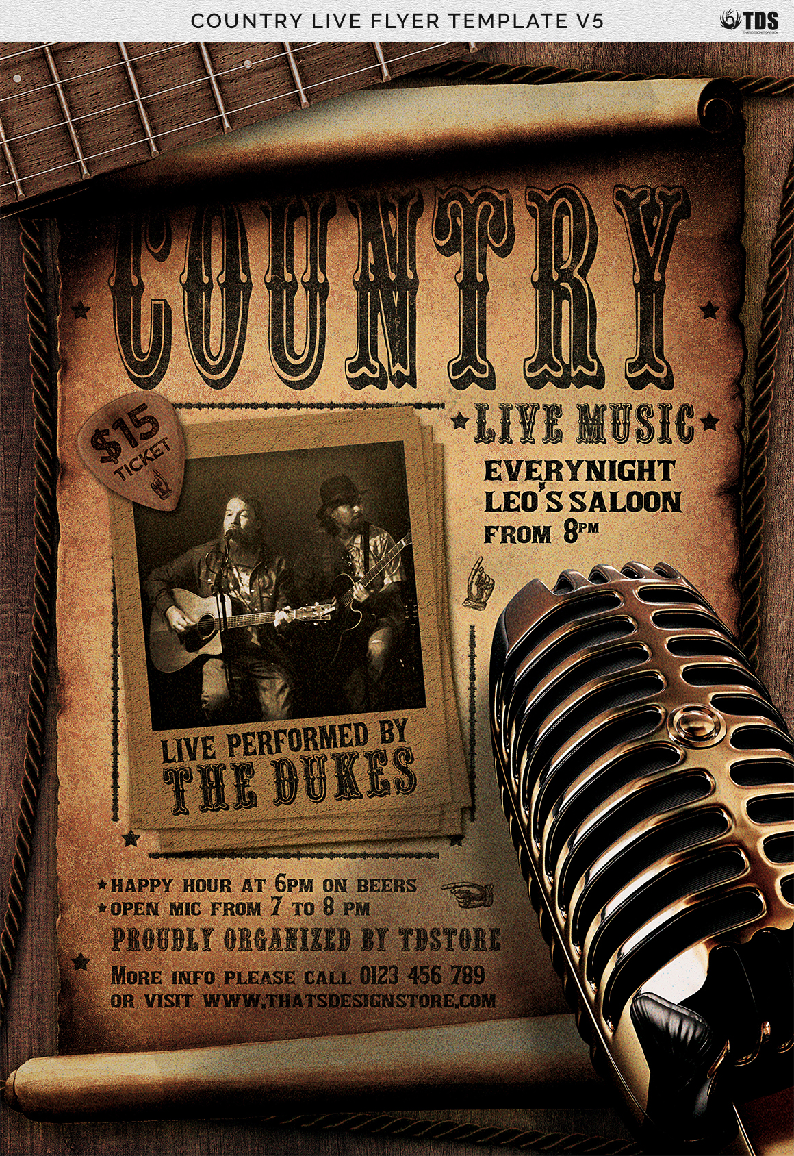 Country Live Flyer Template V5 example image 7