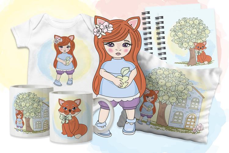 FOX FAIRY TALE Cartoon Color Vector Illustration Set example image 2