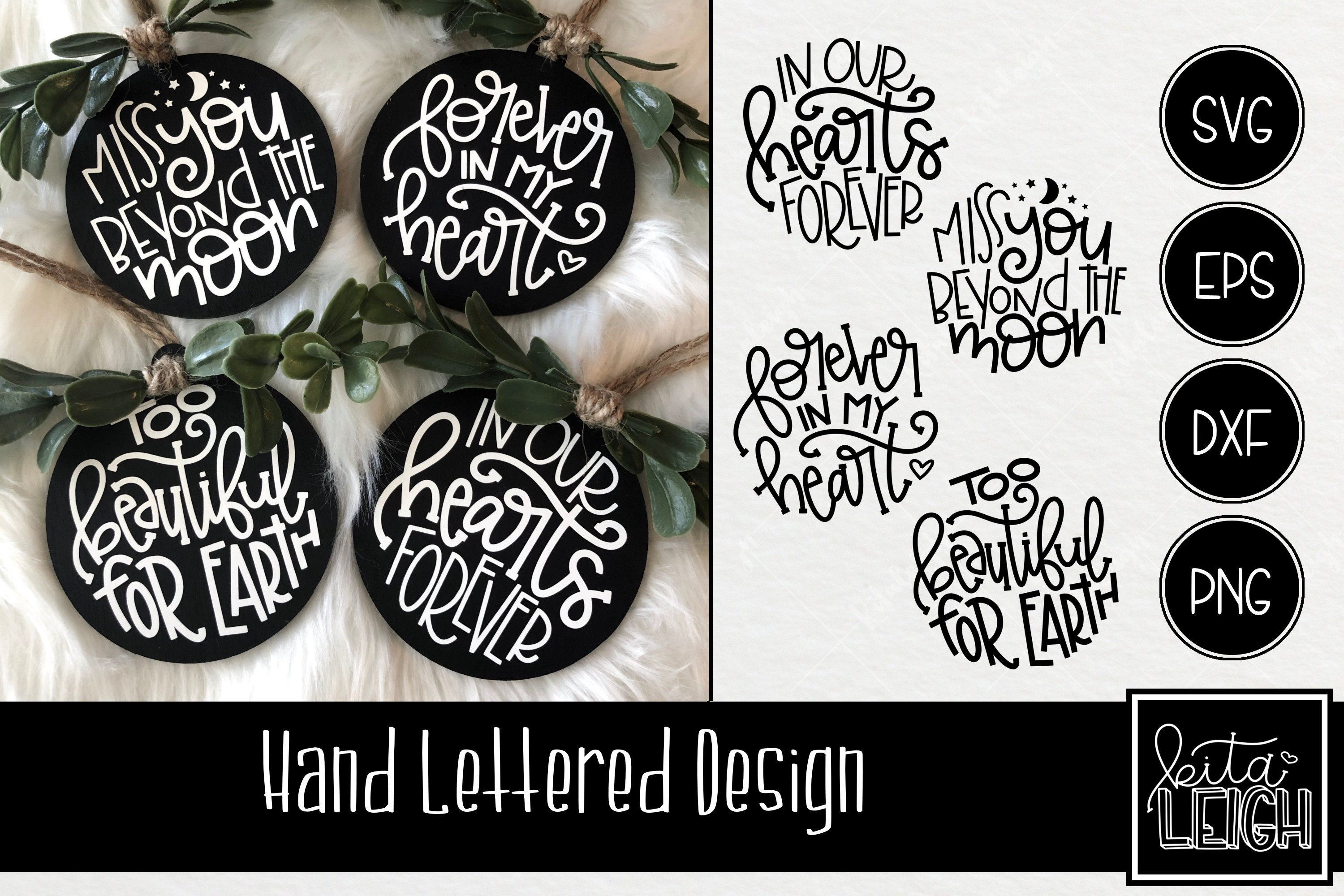 Memory Hand Lettered Rounds SVG example image 1