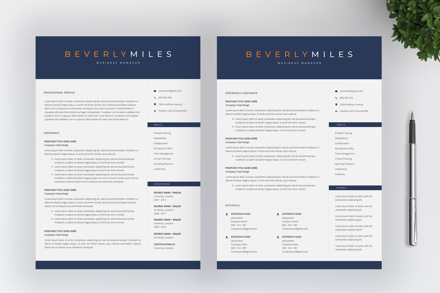Resume Template and Cover Letter   CV template example image 3