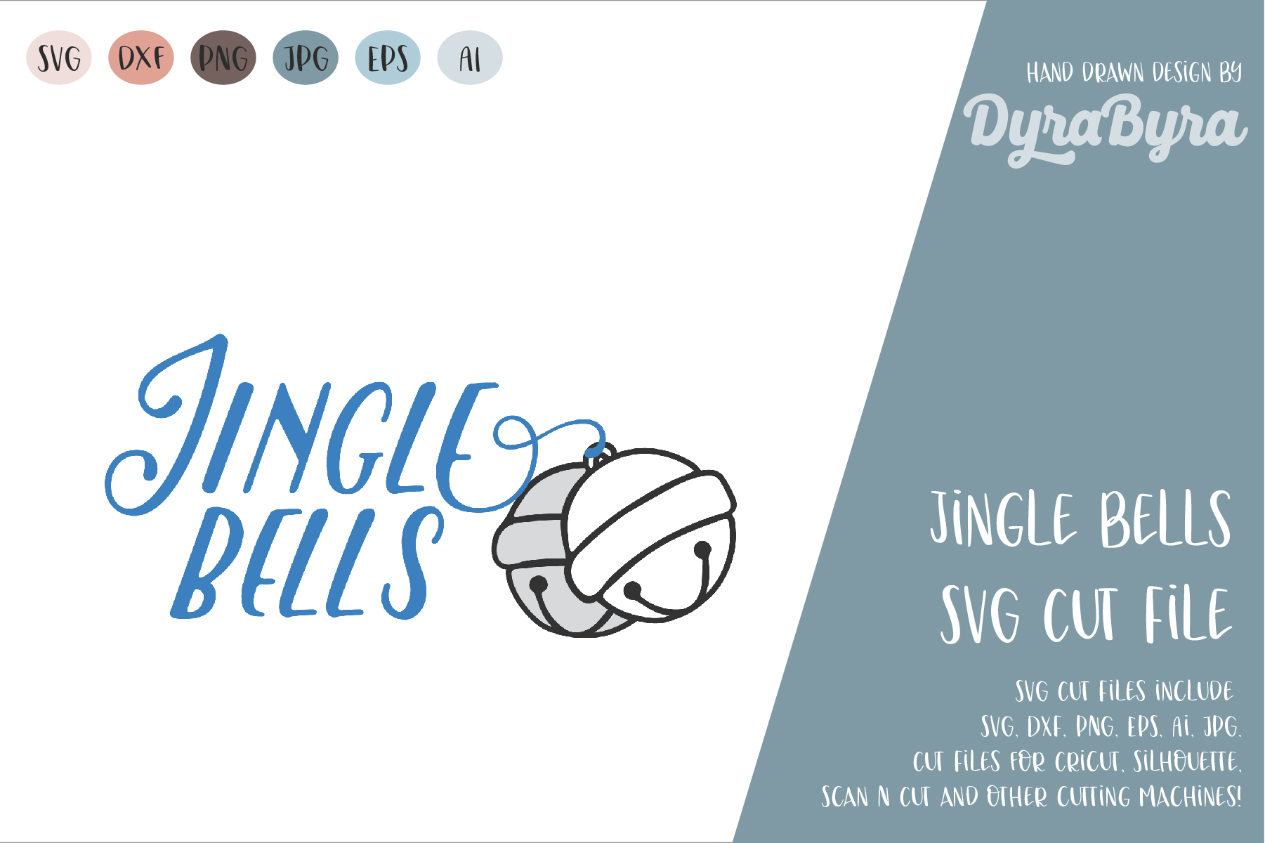 Jingle Bells SVG / Christmas SVG Cut File example image 2