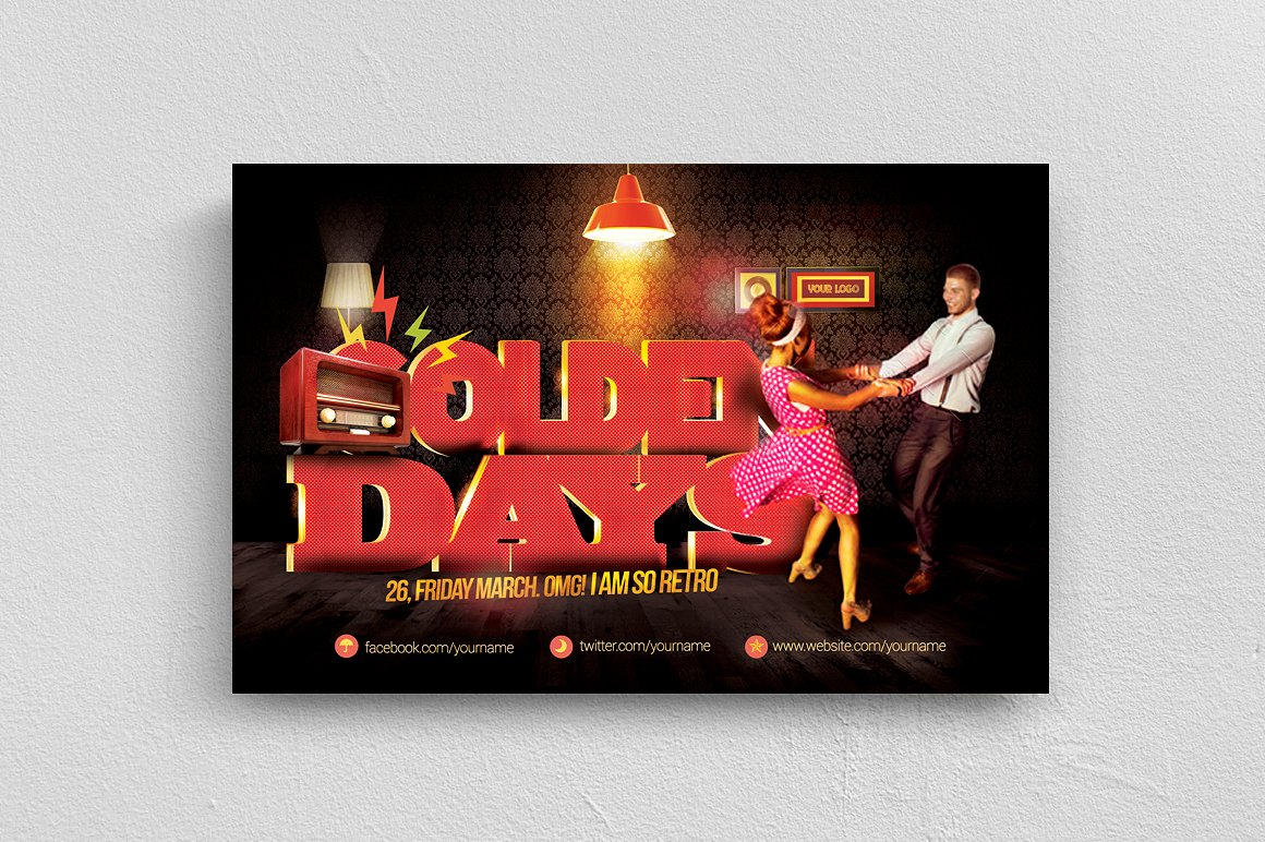 Golden Days Flyer Template example image 1
