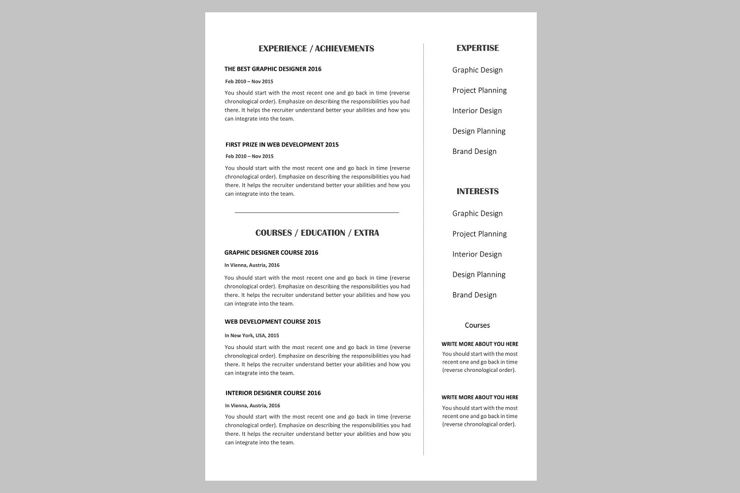 Creative resume template / CV example image 2