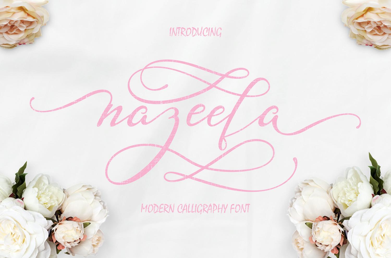 Nazeefa Script Font ( February Sale ) example image 1