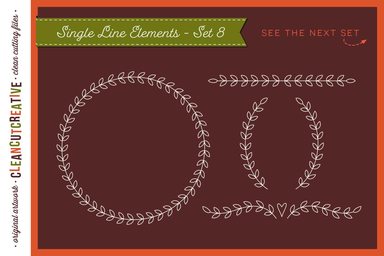 Foil Quill | Single Line | Sketch | SVG design elements example image 10