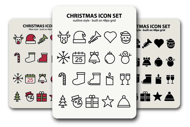Christmas Icon Sets example image 1