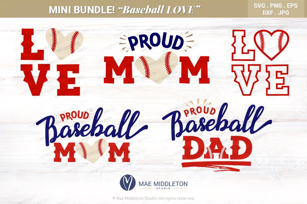 Baseball LOVE, Baseball Mom, Baseball Dad example image 1
