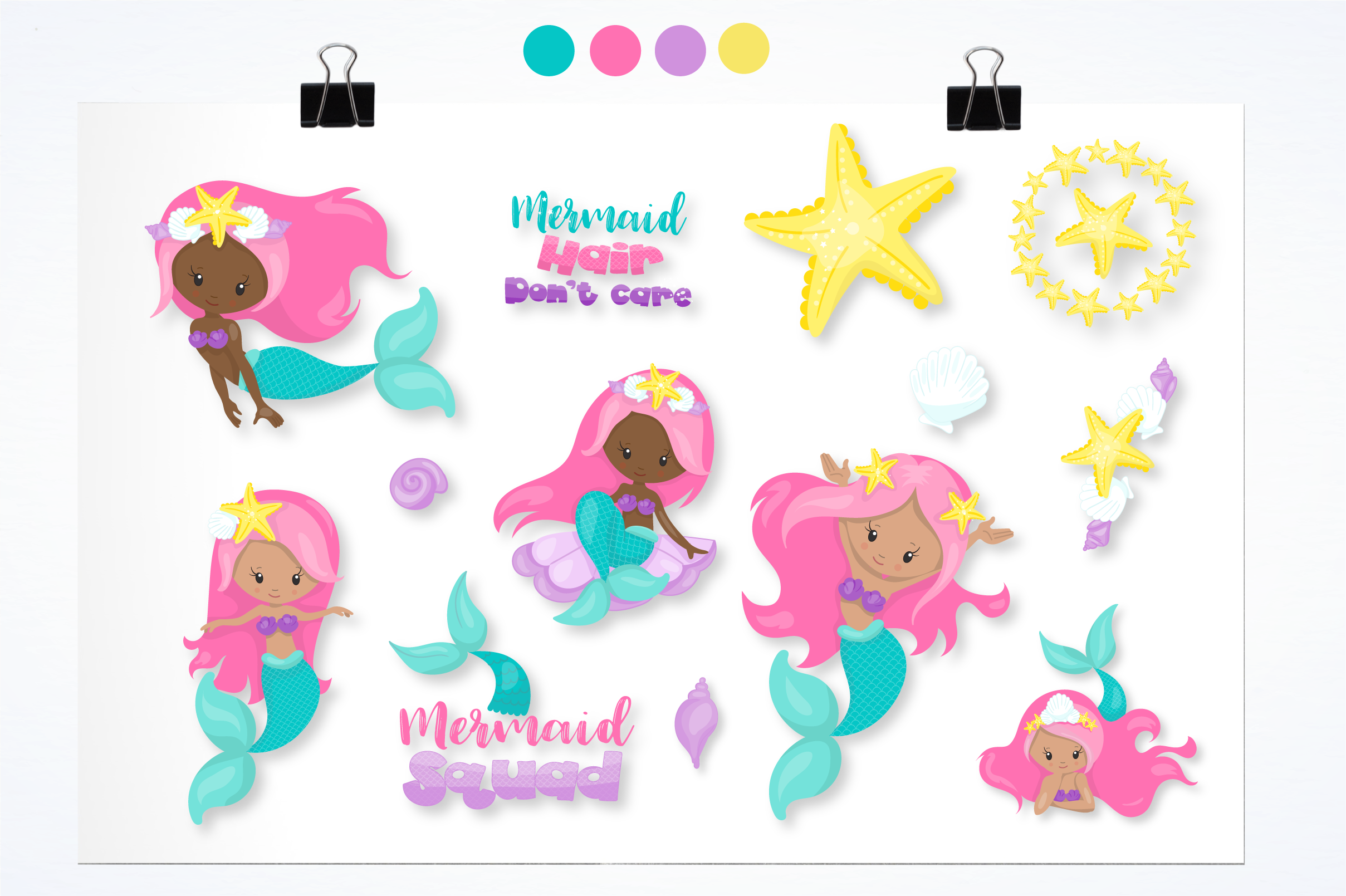 mermaid squad graphics and illustrations example image 3