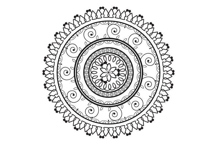 Mandalas. Round forms. example image 9