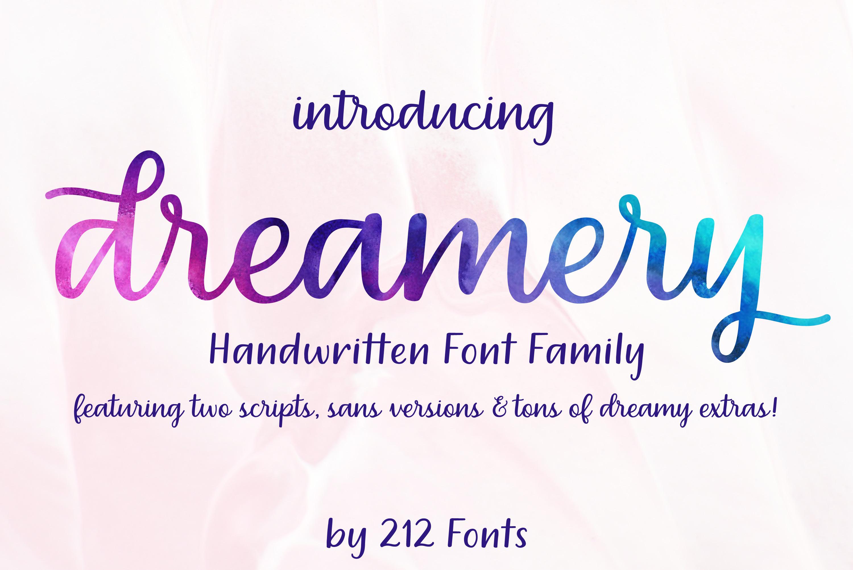 Dreamery Script and Sans Handwritten Feminine Font Trio example image 1