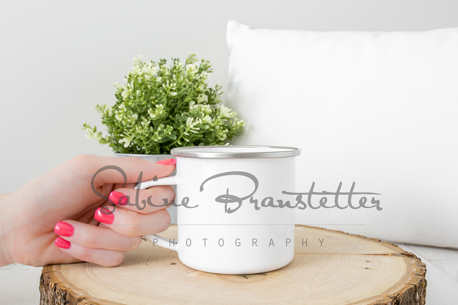 Styled Stock Photography White Camping Mug Mockup example image 1