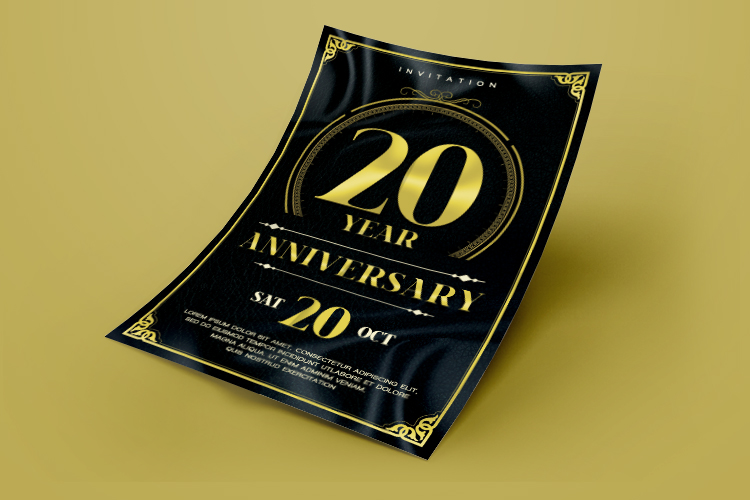 Anniversary Flyer example image 3