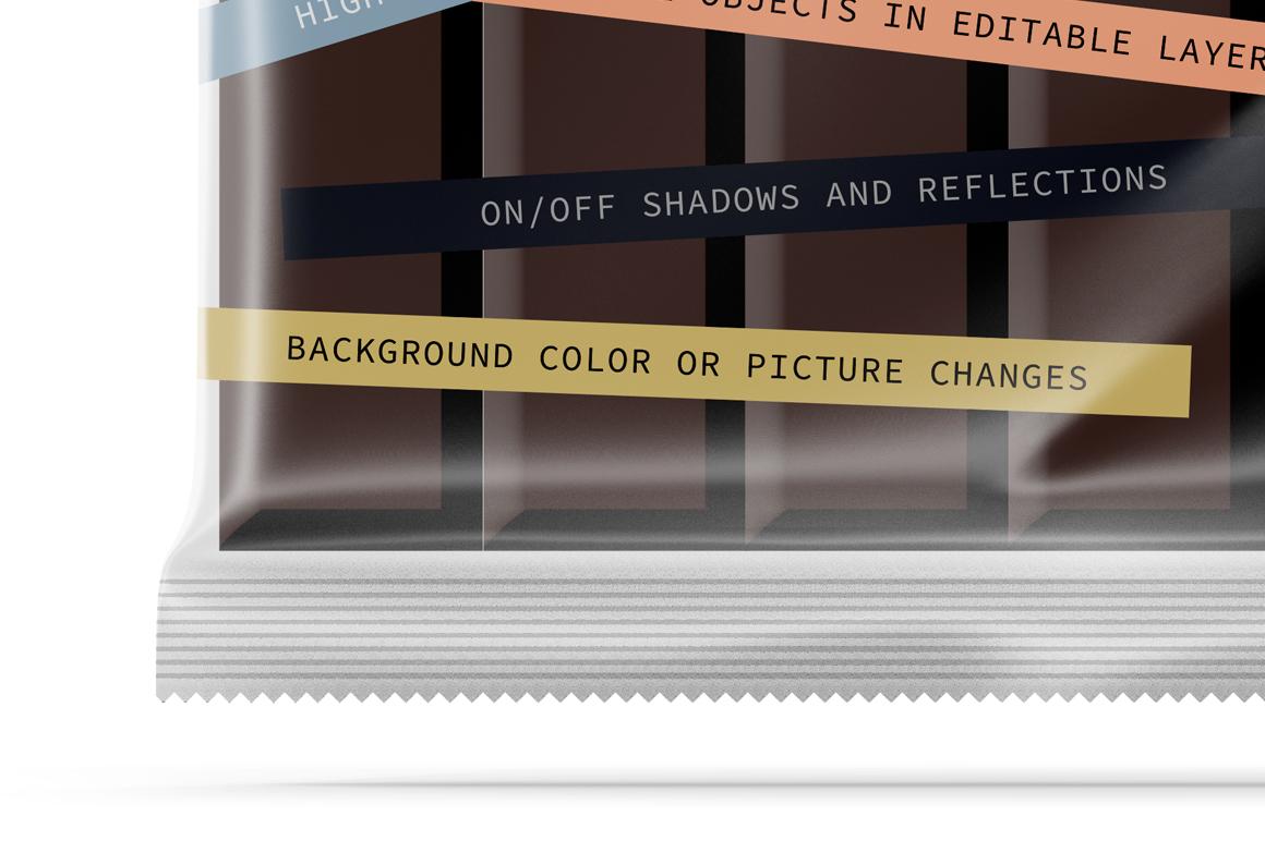 Transparent Square Chocolate Bar Mockup example image 4