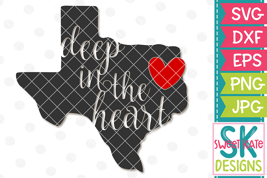 Texas Deep in the Heart SVG DXF EPS PNG JPG example image 1