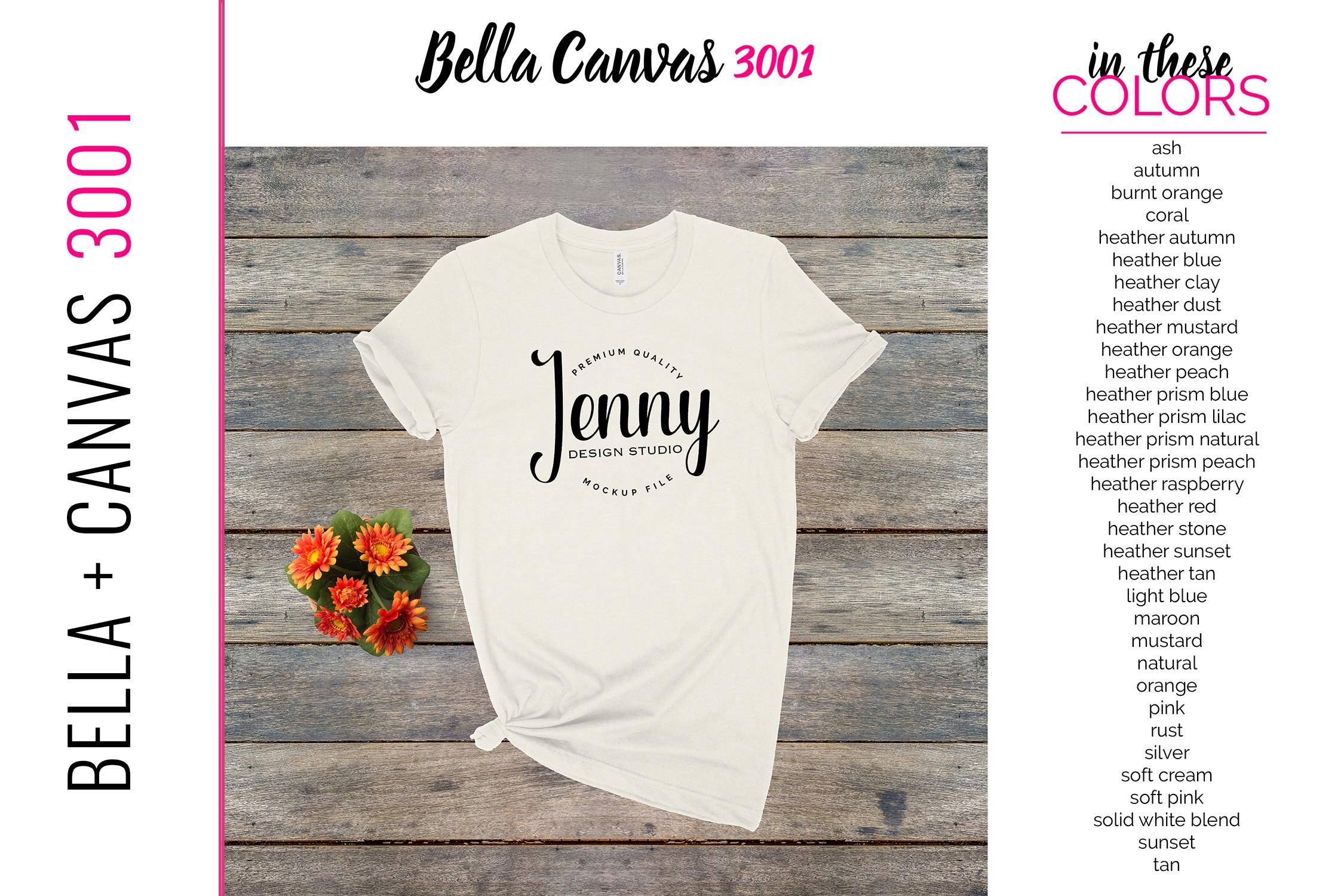 Bella Canvas 3001 Mockup Bundle, Knotted Tshirt Mockup example image 3