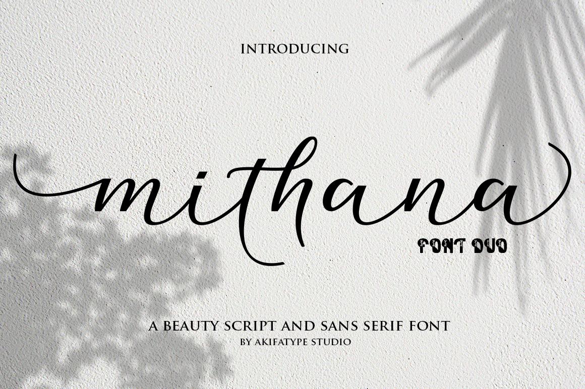 Mithana Font Duo example image 1