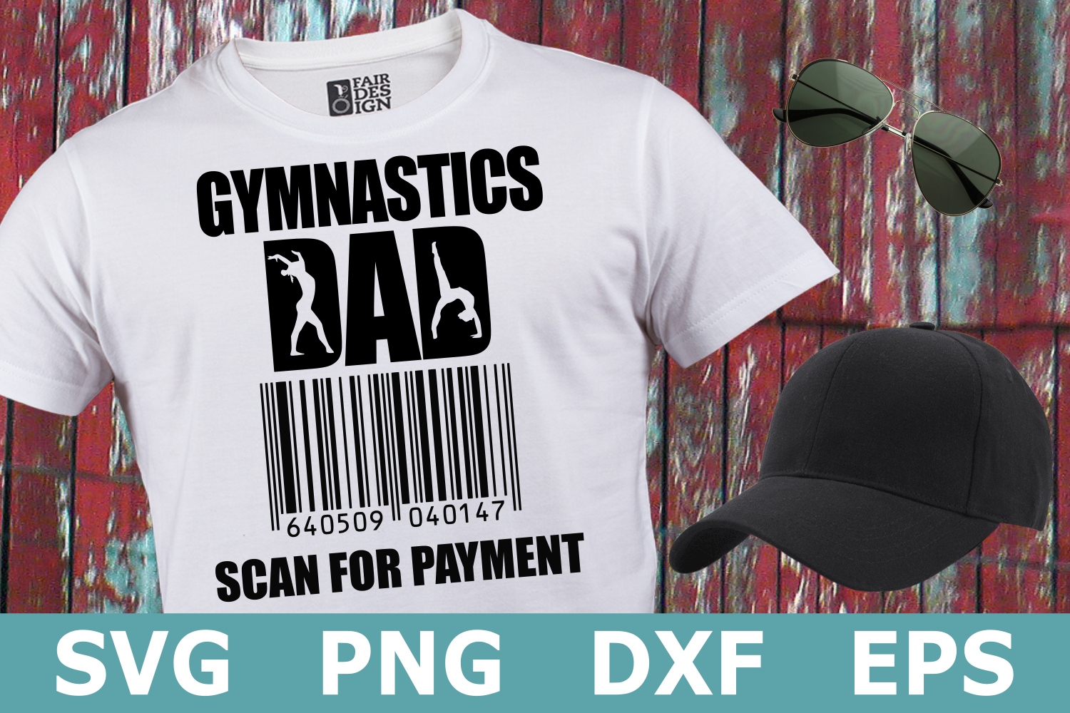 Gymnastics Dad Scan for Payment - A Sports SVG Cut File example image 1