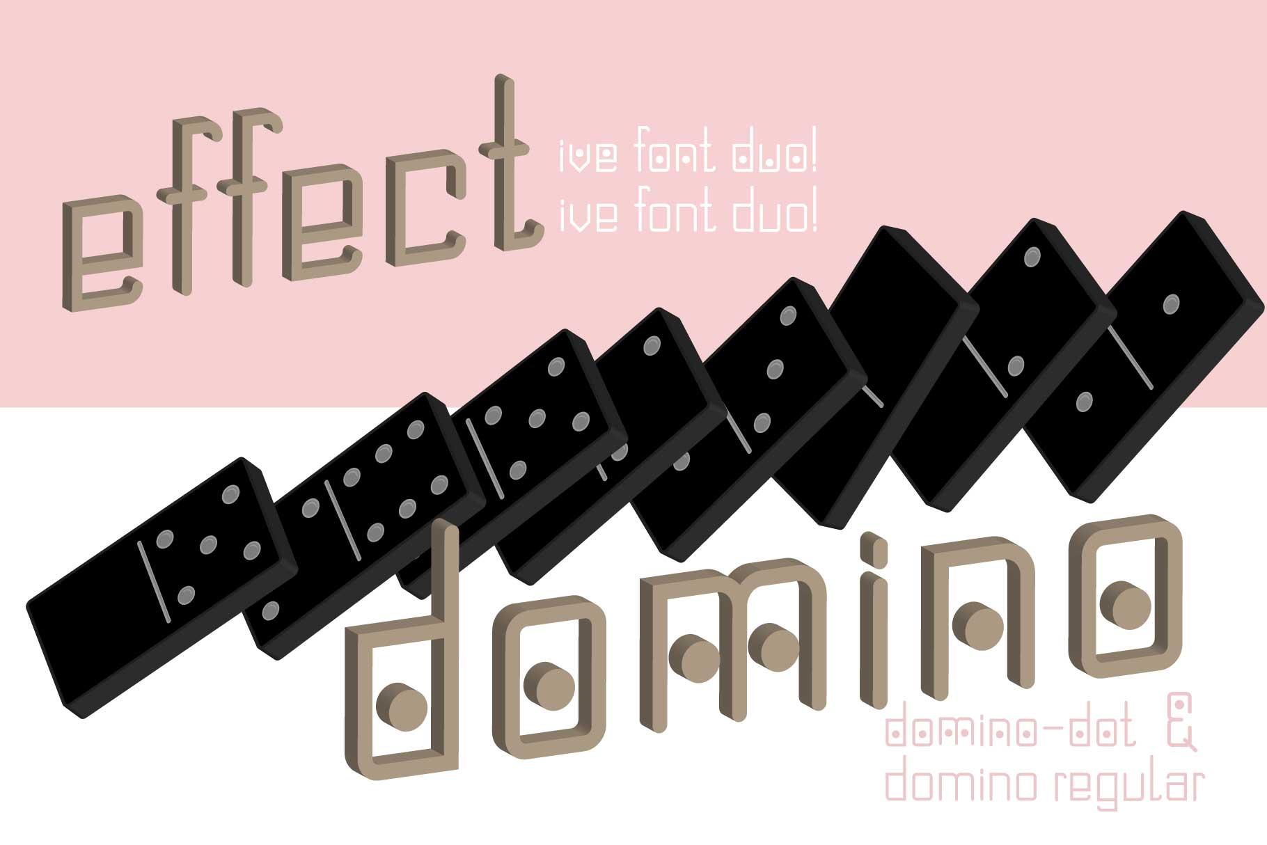 Domino-dot monospace san serif font duo example image 2