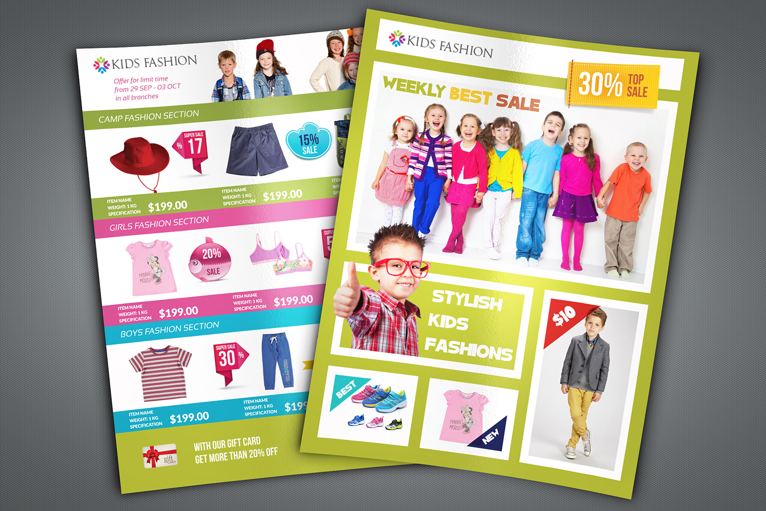 Kids Fashion Catalog Flyer Template example image 1