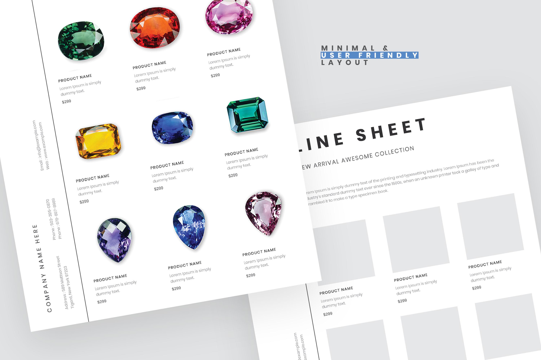 Portrait line sheet flyer layout example image 2