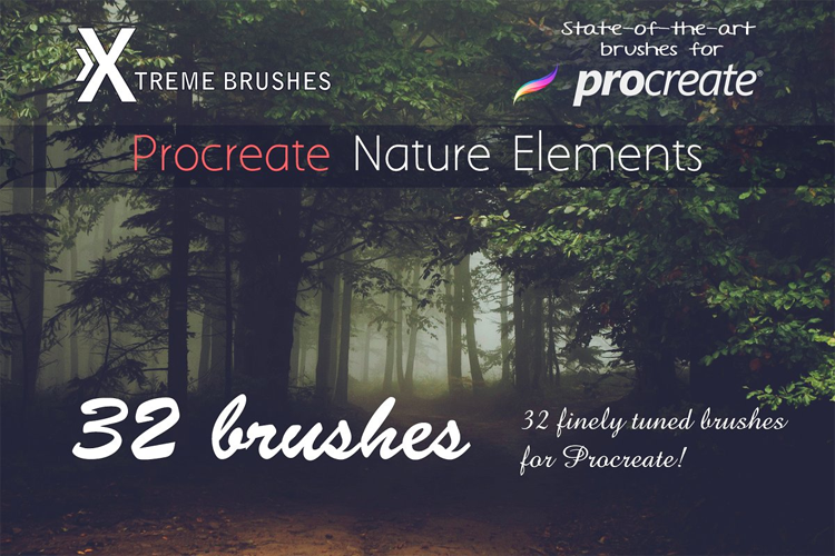 Procreate Nature Elements example image 1