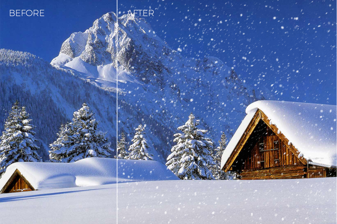 30 Real Snow Overlays example image 10
