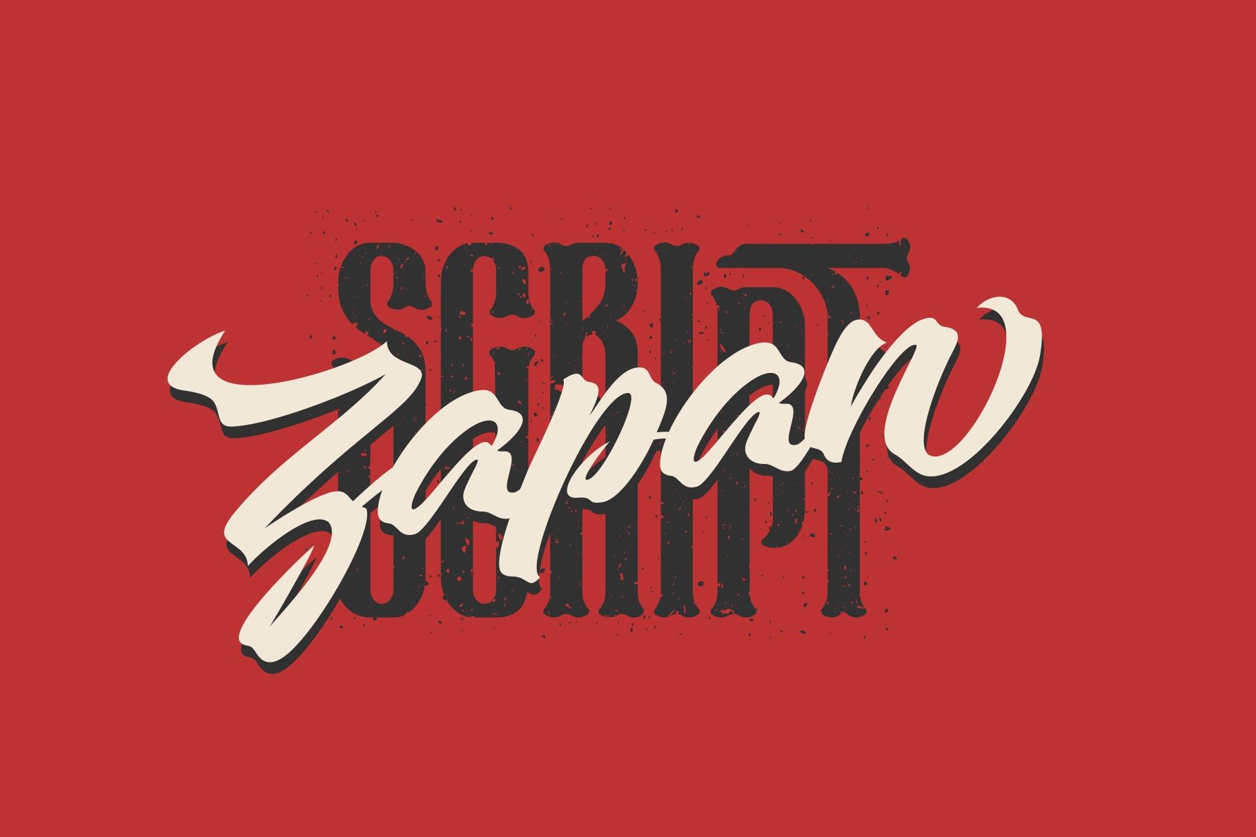 Zapan Font Script example image 1