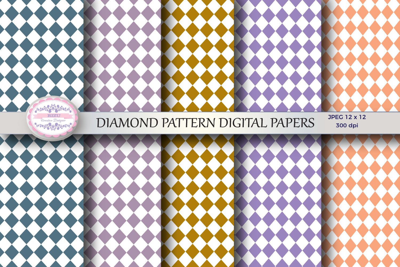 DIAMOND PATTERN DIGITAL PAPERS example image 1