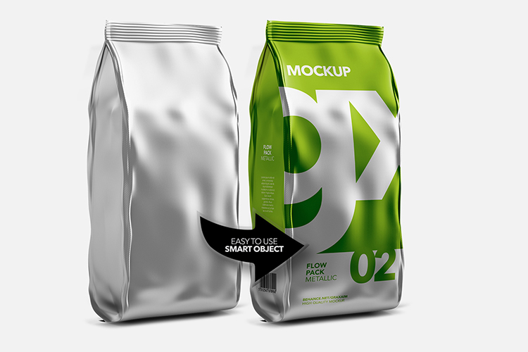 Flow Pack - Mockup - Metallic example image 4