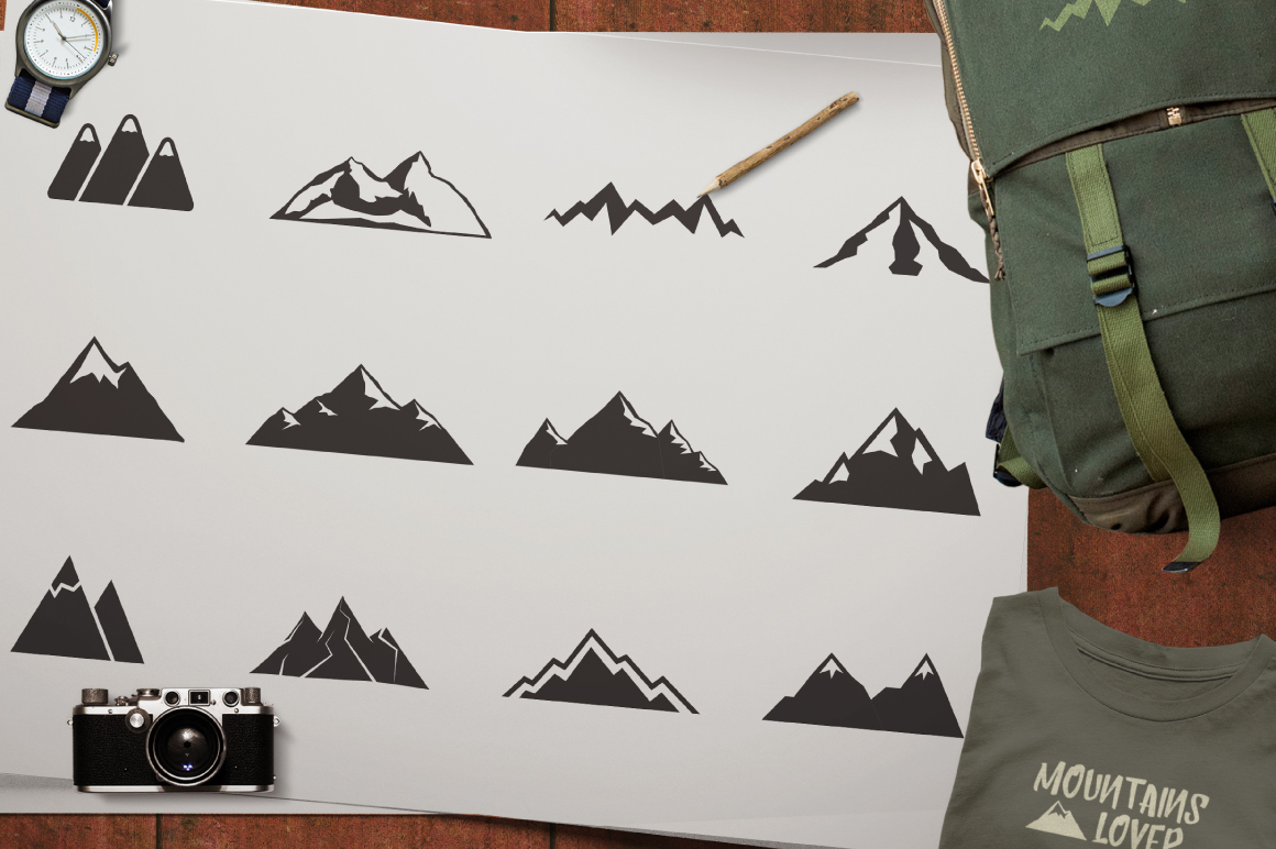 Mountain Shapes & Tee Design Vol.3 example image 5