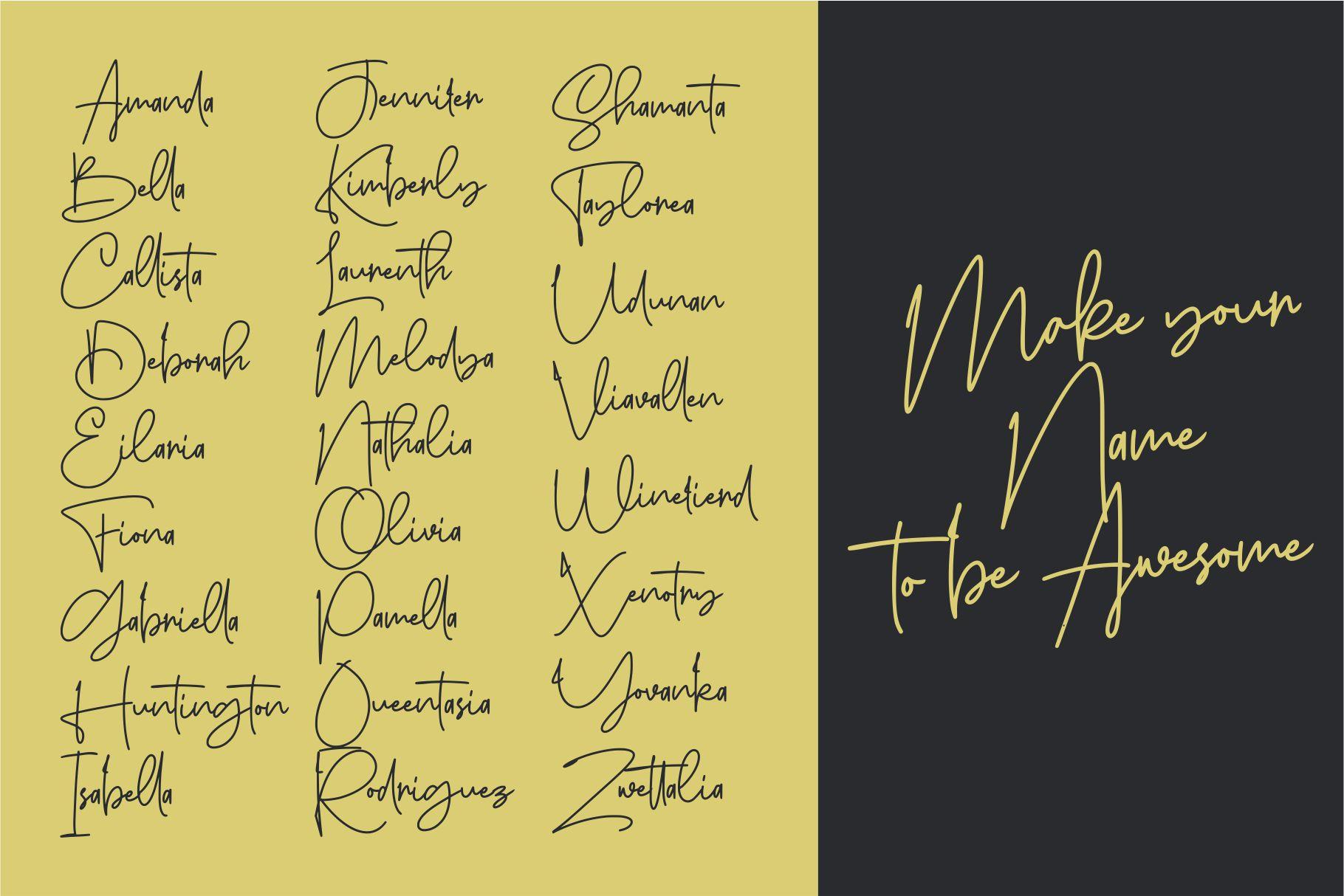 Sanpaullo - Signature Font example image 7