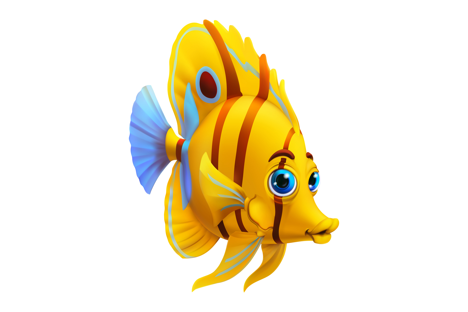 Cute little girl, sea animals, beach background, game icons example image 7