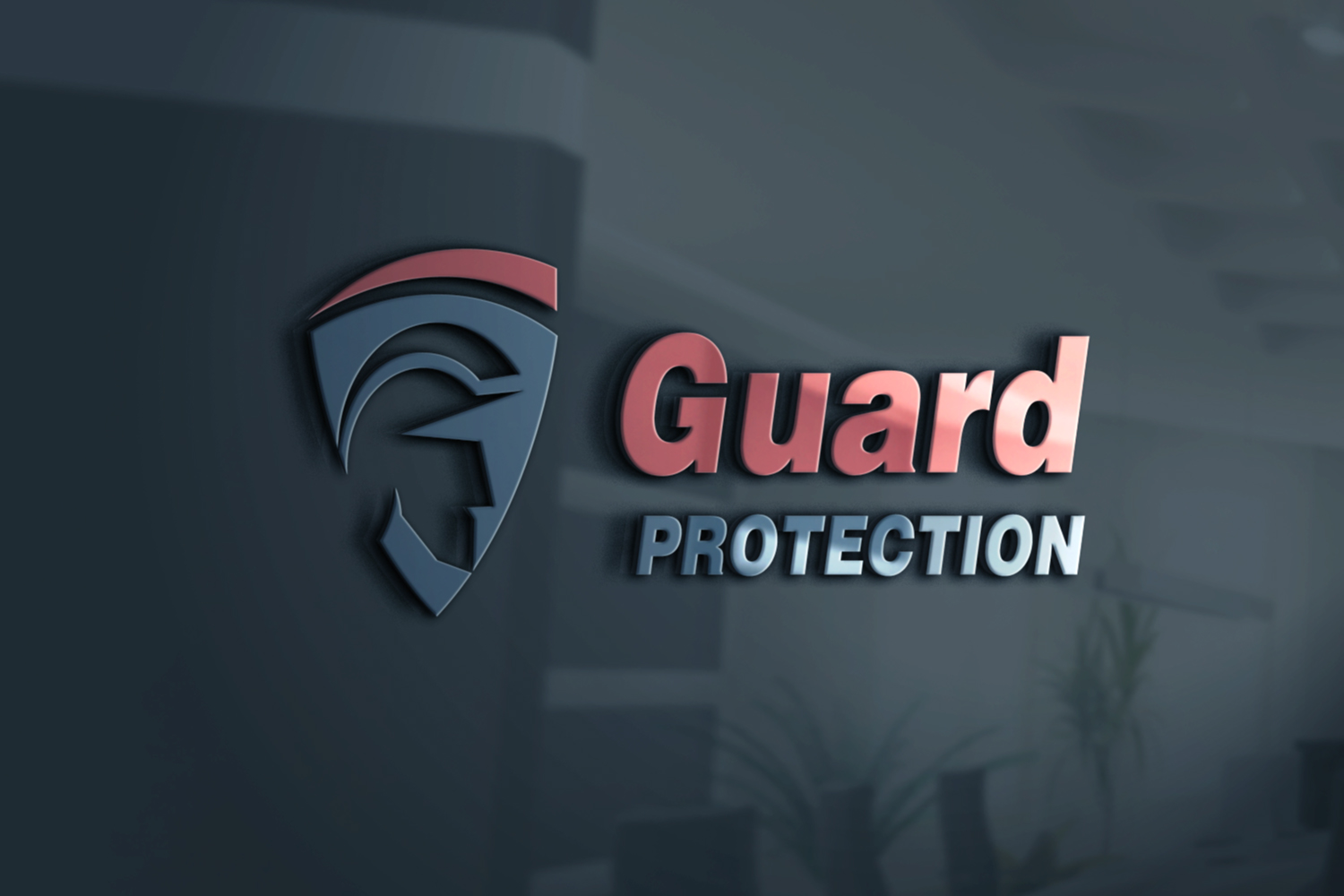 Police & Shield Logo, Guard Protection. example image 2