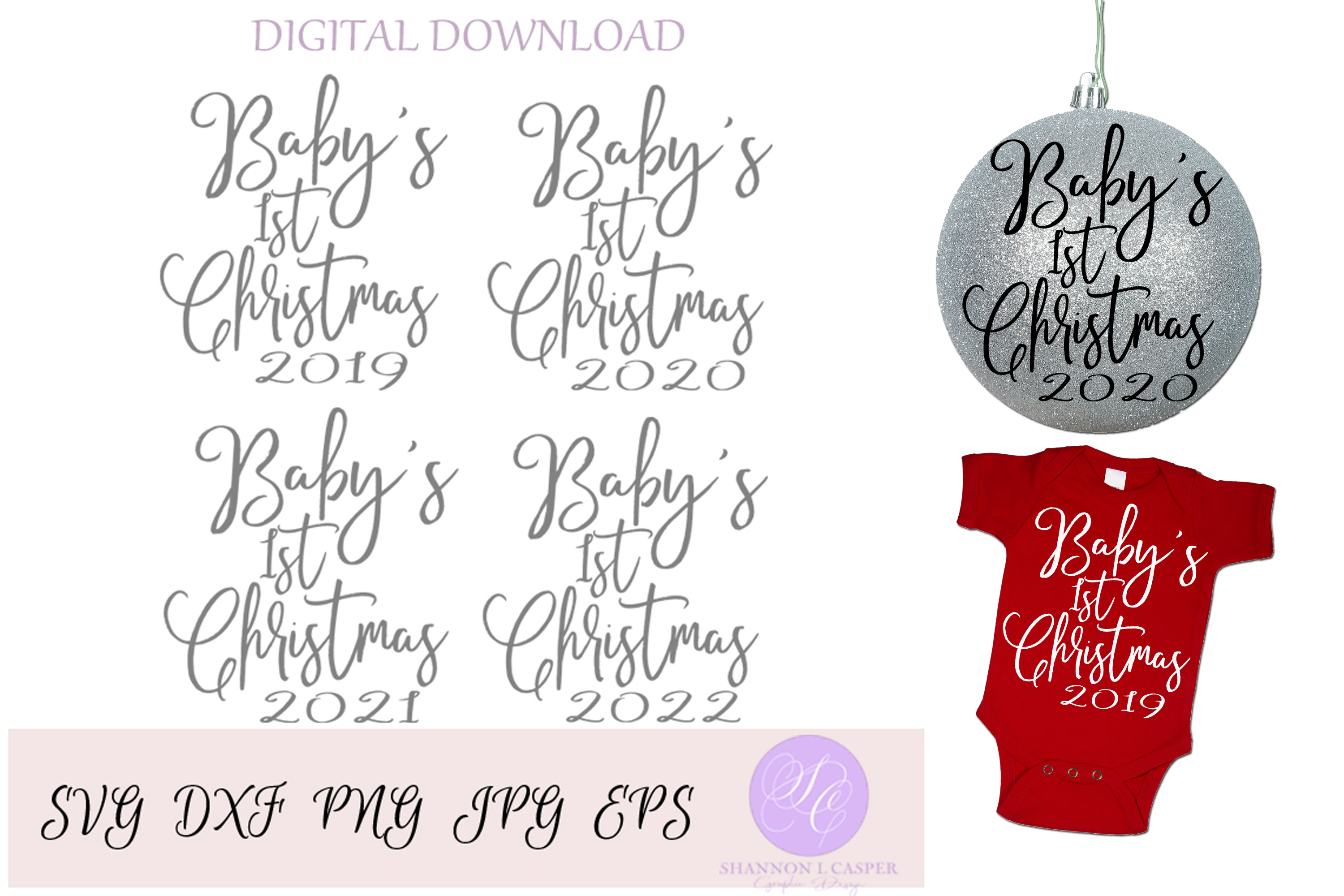 Baby's First Christmas SVG example image 1