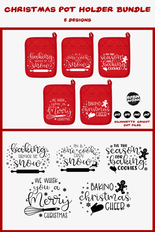 Christmas Pot Holder Bundle SVG - Vol.1 example image 8