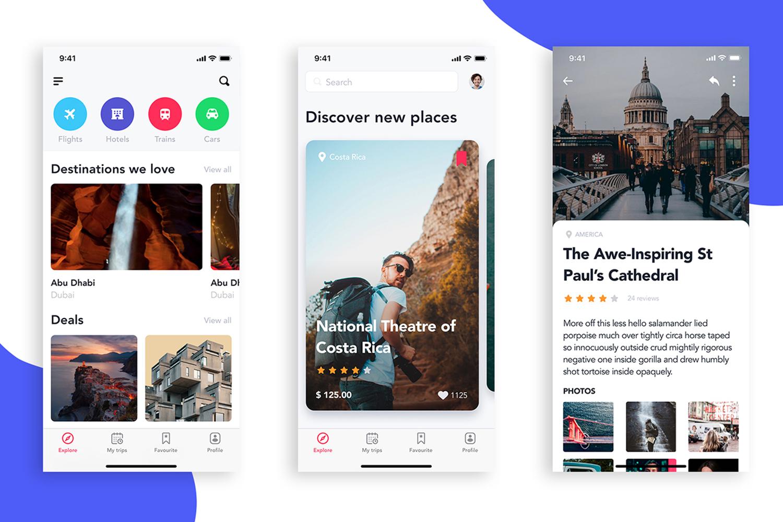 EasyGo - Travel App UI Kit example image 6