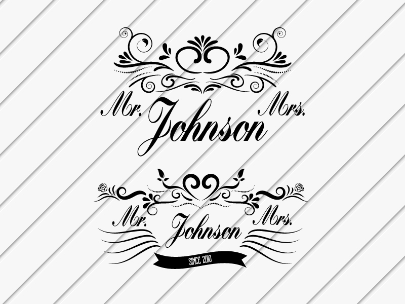 Mr & Mrs  Svg Dxf Png Jpg Eps vector file Cut Files example image 1