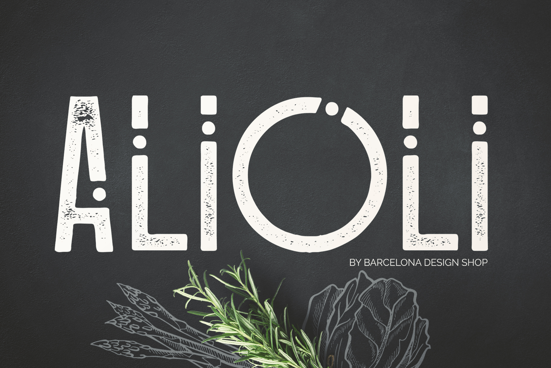 Alioli Texture Font example image 1