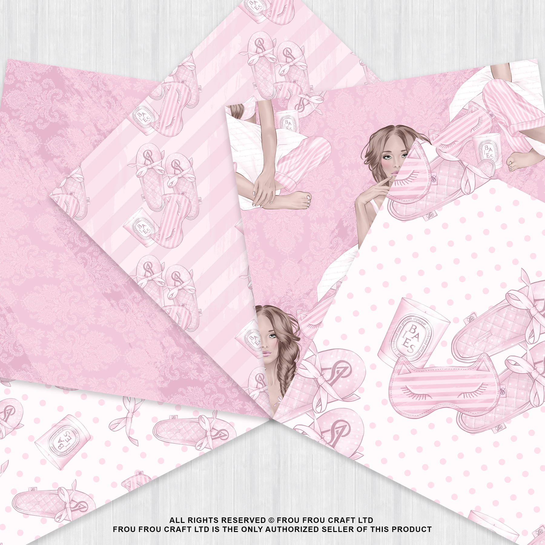 Holiday Weekend Fashion Girl Pijamas Paper Pack example image 3