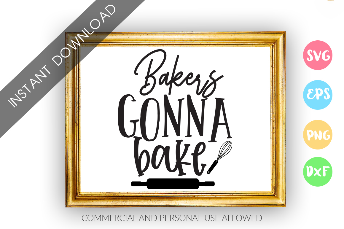 Bakers gonna bake SVG Design example image 1