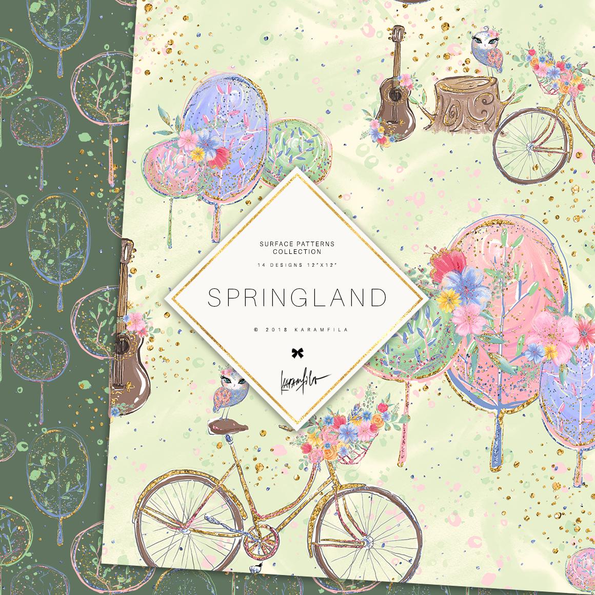 Spring Woodland Patterns example image 7